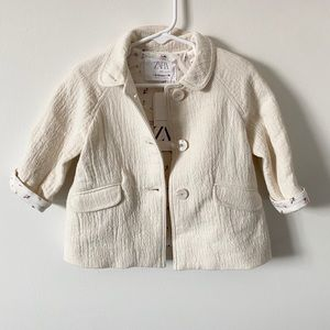 Zara baby girl cream jacket